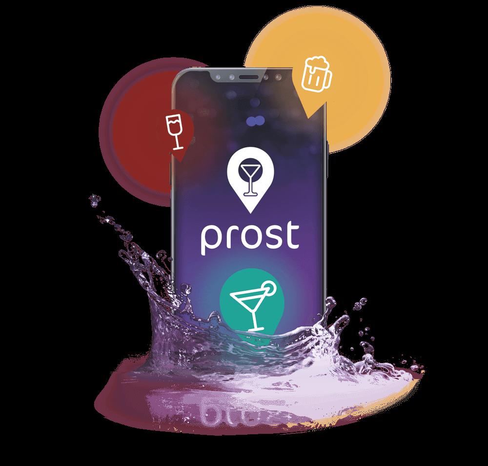 Handy mit dem Prost Logo